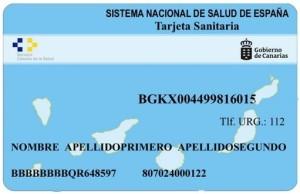 So sieht die neue Tarjeta sanitaria individual aus: Abholen kann man sie in den Centros de Salud auf La Palma.