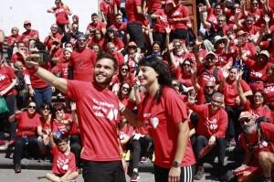 Santa Cruz sieht rot: Am Weltblutespendetag am 14. Juni 2018 werden in der Hauptstadt wieder rote T-Shirts mit der Aufschrift Tu sangre me da vida alle Augen auf sich ziehen. Foto: Stadt