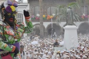 Die Negra Tomasa: Galleonsfigur beim Día de Los Indianos. Foto: Santa Cruz de La Palma