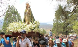 Nur alle drei Jahre: Der große Umzug in El Paso mit der Virgen del Pino.