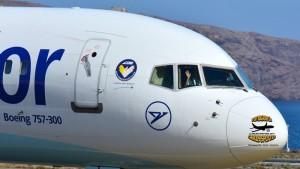 Condor-Maschine auf dem Airport von SPC: Sieht man im Sommer 2018 nicht, denn der deutsche Ferienflieger setzt Partner-Airlines für diese Strecke ein. Viele Fluggäste sind deshalb sauer und man hört allenthalben, dass Dauer-La Palma-Reisende sich für den Winter 2018/19 alternative Fluggesellschaften zur Anreise suchen. Foto: Carlos Díaz