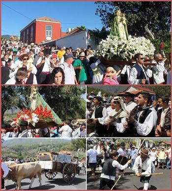 Höhepunkt im August: Die Virgen del Pino wird nach El Paso herabgetragen - begleitet von einem bunten Umzug mit viel Musik.
