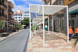 Schöne Einkaufbereiche wie hier in Los Llanos: Kanarenregierung fördert den Ausbau. Foto: La Palma 24