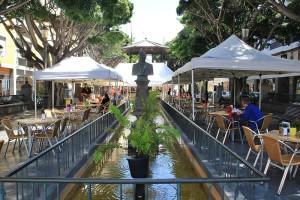 Plaza Alameda in Santa Cruz: Die Umgebung wird umgestaltet.