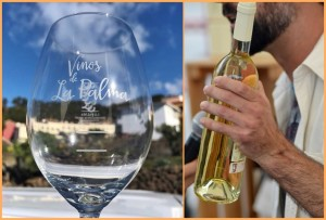 Trendy: DO-Weine aus La Palma in den schicken, immer wieder neu gestalteten Gläsern des Winzerverbandes.