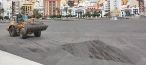 Stadtstrand: Sand wurde vom Winde verweht. Foto: Santa Cruz