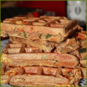 Fertige Gofio-Waffeln: Durch das geröstete Mehl sind sie dunkel und haben einen vollmundigen Geschmack. Foto: La Palma 24