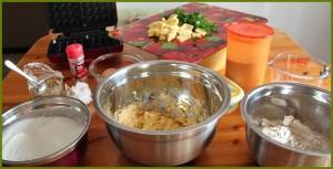 Gofio-Waffel-Zubereitung: Man braucht drei Schüsseln. Foto: La Palma 24