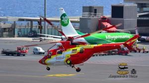 Der GES Heli: steht am Airport ständig für Einsätze bereit. Foto: Carlos Díaz