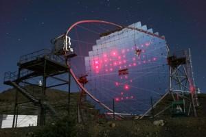 MAGIC-Teles auf La Palma: Spüren Gammastrahlen des Weltraums auf. Pressefoto IAC