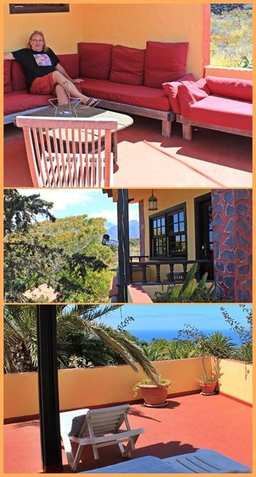 Dachterrasse der Musicasa: Ebenfalls ein Treffpunkt für alle Gäste. Fotos: La Palma 24