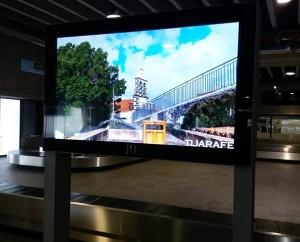 Ausflugsziel Tijarafe: Die Gemeinde wirbt schon am Flughafen.