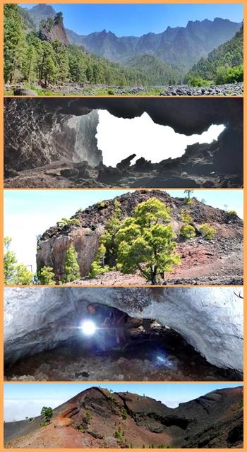 Vulkane, Höhlen