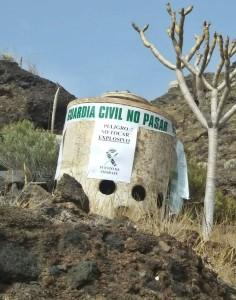 Wird heute gesprengt: Bombe aus dem zweiten Weltkrieg in Tijarafe. Foto: Guardia Civil