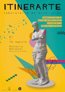 Plakat der Itinerarte: junge Kunst in der Casa Salazar.