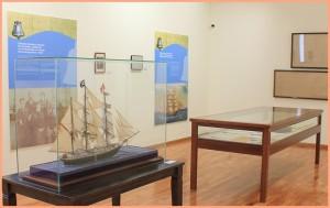 Bajada-Besucherzentrum: aktuelle Ausstellungen im Untergeschoss.