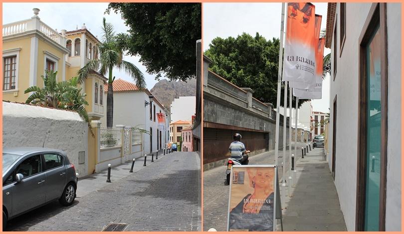 Blick in die Calle de la Luz vom Teatro Circo de Marte aus (links) und zurück vom Bajada-Besucherzentrum aus (rechts).