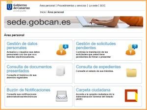 Auf der Internetseite der Regionalverwaltung: Rechts unten geht es zum neuen Carpeta