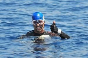 Er will als Erster auf der Welt von La Gomera nach La Palma schwim
