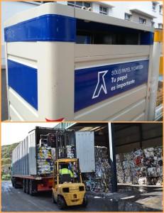 Das Recycling von Papier und Kartonagen auf La Palma funktioniert gut: