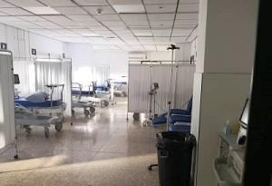 Die Notaufnahme im Candelaria-Krankenhaus auf Teneriffa: Mehrere Räume brannten aus, dieser auf dem Bild konnte inzwischen renoviert werden. Foto: GobCan