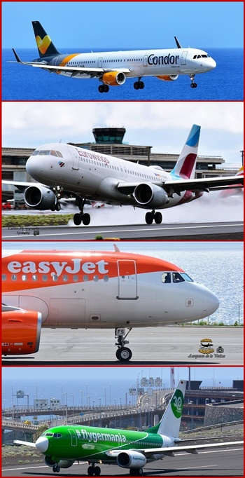 Vier deutsche Airlines fliegen im Winter 2018/19 nach SPC: Condor, Germania, EasyJet und Eurowings. Fotos: Carlos Díaz