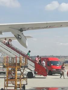 Schnelle Reaktion des Kapitäns der Iberia-Maschine: Er kehrte nach dem Vogelschlag sofort zum Flughafen Madrid-Barajas zurück.