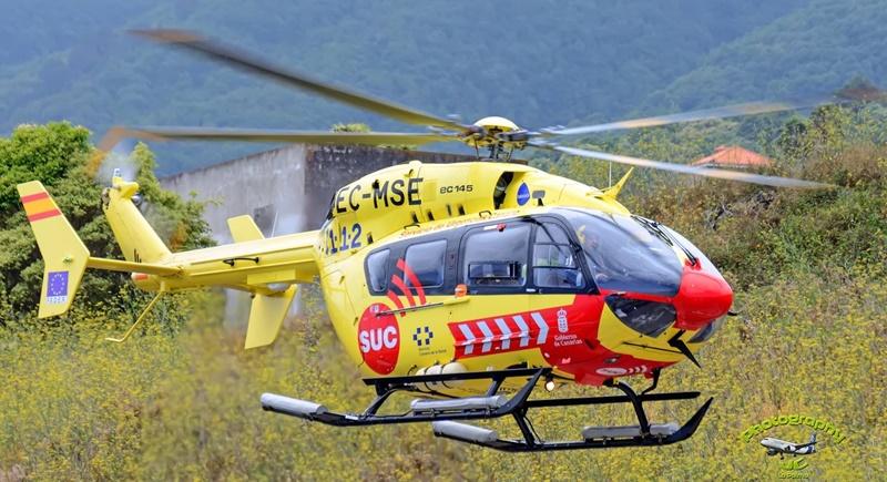SUC-Flieger-Bilanz 2018. Im ersten Halbjahr 2018 waren die gelben Helis des Servicio de Urgencias Canario (SUC) 916 Mal unterwegs – 87 der medizinischen Flüge starteten im Hospital General von La Palma. Die Einsätze wurden sowohl in Notfällen als auch zur Verlegung von Patienten zwischen den Krankenhäusern auf den Inseln geflogen. Die beiden SUC-Helikopter sind 365 Tage im Jahr im Einsatz und mit neuester Medizintechnik ausgestattet. Darüber hinaus verfügt der SUC über ein Flugzeug, das Patienten von den Kanaren auch aufs spanische Festland bringen kann. Die auf Gran Canaria stationierte Beechcraft Super King Air 200 erreicht Spanien in circa sechseinhalb Stunden bei einer Geschwindigkeit von 480 Stundenkilometern.
