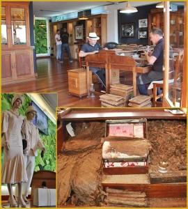 Der Hauptraum von Puros Artesanos Julio in Breña Alta: An der Drehbank arbeiten die Chinchaleros wie einst, und ringsum wird die elegante Einrichtung mit Accessoires aus der guten alten Zeit stilvoll abgerundet. Fotos: La Palma 24