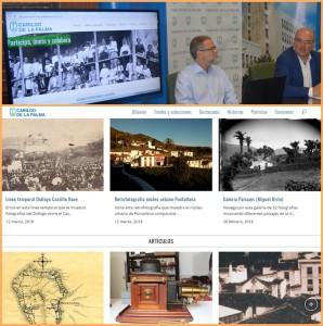Inselpräsident Anselmo Pestana bei der Vorstellung des neuen, virtuellen Generalarchivs von La Palma: