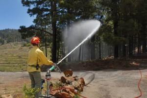 Waldbrandbekämpfung: Wichtig ist ein optimales Netz mit Hydranten. Foto: Cabildo