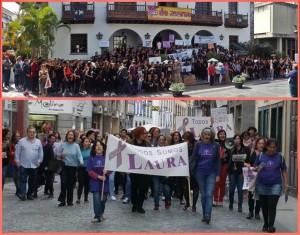 Weltfrauentag im März 2018: Immer mehr Menschen demonstrieren auf La Palma gegen häusliche Gewalt und beklagen die Opfer.