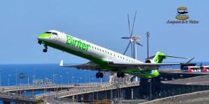 Binter: Die Airline verbindet SPC täglich mit Teneriffa und Gran Canarias. Foto: Carlos Díaz