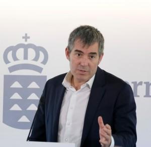 Fernando Clavijo: spricht öffentlich auf La Palma. Foto: GobCan