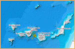 Bebenserie zwischen Teneriffa und Gran Canaria: INVOLCAN