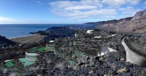 Das geplante Heilbad an der Heiligen Quelle an der Playa Echentive im Süden von La Palma: Inselpräsident Anselmo Pestana schätzt, dass mit dem Bau 2019 begonnen werden kann. Modellfoto: Cabildo