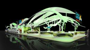 Innovativ und ein Eye-Catcher: Der Kanaren-Pavillon, der auf großen Messen in verschiedenen Ländern aufgebaut wird. Foto: Promotur