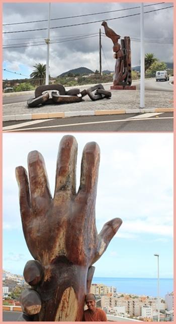 Los Ochenta (oben) und La Natura (unten): Hände spielen bei Pegé oft eine große Rolle. Fotos: La Palma 24