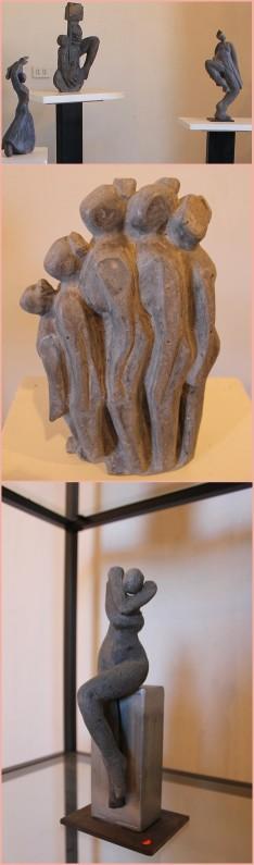 Pége arbeitet auch mit Stein: kleinere Skulpturen wie diese zeigt sie während ihrer Ausstellungen. Foto: La Palma 24