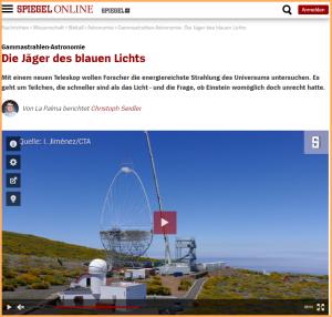 Spiegel Online-Reportage: Alles übers LST-1 auf La Palma.