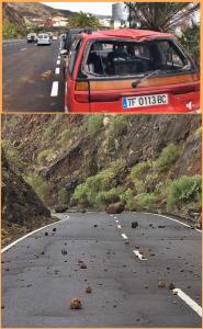 Steinschlag durch Starkregen: insbesondere im Norden und Osten kam einiges ins Rutschen.