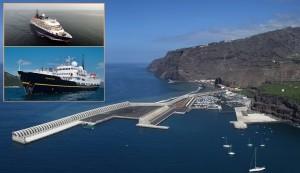 Die MS Island Sky kommt am 10. Oktober 2018 nochmal nach Tazacorte: Am 12. November folgt ihr Schwesterschiff Serenissima. Fotos: GobCan/Reederei