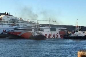 Zusammenstoß des Armas-Katamarans auf seiner Fahrt von Gran Canaria nach Teneriffa:
