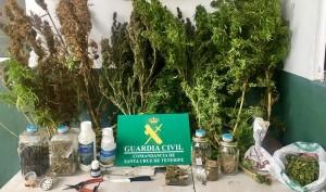 Beschlagnahmt: 2,6 Kilo Marihuana in verschiedenen Formen. Foto: Guardia Civil