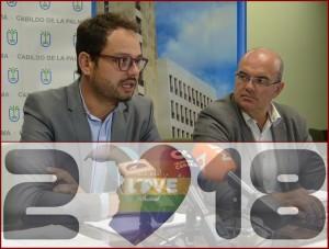 Wirtschaftliche Belebung und unterm Strich ein Plus: Jordi Camacho (links) und Inselpräsident Anselmo Pestana ziehen eine positive Bilanz zum Isla Bonita Love Festival 2018. Foto: Cabildo