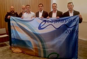 Der Eco-Playa-Wimpel: darf an vier Stränden von La Palma aufgezogen werden.
