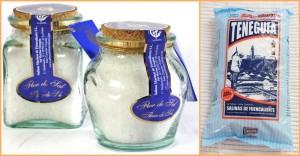 """Edelmetall für die Salinen von Fuencaliente: Gold gab es für die Salzblüte und Silber für das """"ganz normale"""" Salz im Päckchen."""