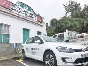 Mit gutem Beispiel voran: Restaurant Chipi Chipi bietet seinen Gästen eine Stromzapfsäule.