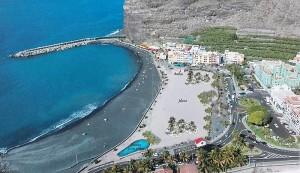 Tazacorte: Modell des geplante Freizeitparks am Strand.
