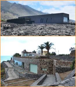 Besucherzentrum an der Paloma-Höhle (oben) und Archäologie-Park Tendal: Nach langem Warten sollen die beiden Besucherzentren